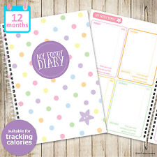 A5 MY FOODY DIARY Calorie Tracker, 52 weeks, food diary, food planner, journal