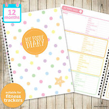 A5 MY FOODY DIARY Fitbit - food diary, food planner, diet diary, tracker