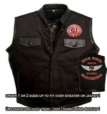 49 Hells Angels Support81 Denim - Leather Vest  Sons of Anarchy Old School Style