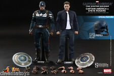 Captain America and Steve Rogers Sixth Scale Figure The Winter Soldier Hot Toys