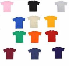 Kinder Fruit Of The Loom 100% Baumwolle T-Shirt T-Shirt 12 Farben Jedes Alter