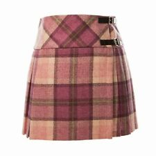 Scottish Tartan Wear Skirt Highland New Ladies Pink Tweed Wool Kilt