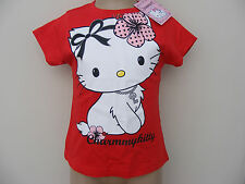 GIRLS OFFICIAL SANRIO CHARMMY KITTY HELLO KITTY T SHIRT RED AGE 12-18 Months NEW