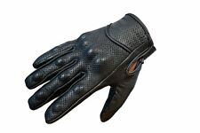 Racing Top Quality Black Protective Summer Motorcycle Motorbike Leather Gloves