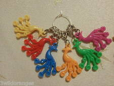 Knitting / Crochet Stitch Markers x 6 Peacock Peacocks