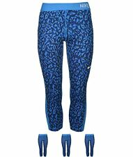 ORIGINALE Nike Pro Graphic Capri Pantaloni Donna Blue