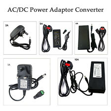 3 Pin UK Power Adapter DC12V 1A -10A PC/CCTV/LED Strip Electric Supply Connector