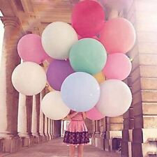 "10pk 36"" Giant Multi Coloured Latex Balloons for Wedding Party"
