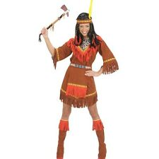 indienne Costume indien femme Wilder WESTERN MARRON ROUGE COSTUME Film cowboy