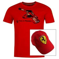T-SHIRT CAP Formula One 1 Scuderia Ferrari F1 Team NEW! Fiorano Track Red