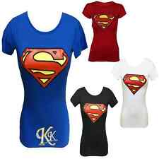 New Women Short Sleeves Super Hero Superman Batman Tank Top T Shirt By K K
