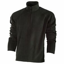 Unbraded Plain Fleece Jacket Men's Half Zip Long Sleeved Warm Running Jackets