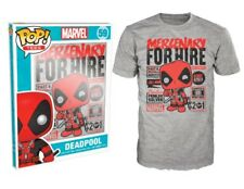 Funko POP T-Shirt Marvel Deadpool Mercenary for Hire (grau)