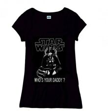 Star Wars Girlie T-Shirt Who's Your Daddy (schwarz)