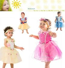 Deluxe Disney Princess Costume Girl Fairytale Fancy Dress Up Outfit Baby Toddler