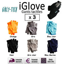 iGlove Gants Tactiles pour iPhone/iPad/Smartphone  (Lot de 3)