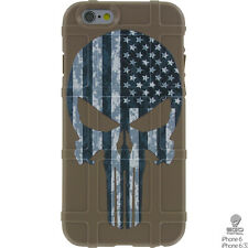 Magpul Field Case for iPhone 6,6s,7,7+.  Custom Punisher Black Sub. USA Flag