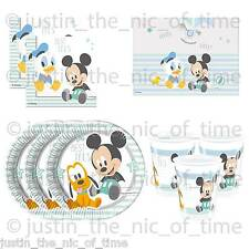 Disney Baby Mickey Mouse Boys Blue Birthday or Baby Shower Party Tableware