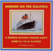 HOST A 1930's MURDER MYSTERY DINNER PARTY GAME ~ for 12-16 players*
