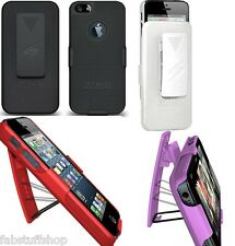 AMZER SHELLSTER SHELL BACK CASE COVER+BELT CLIP HOLSTER FOR APPLE iPHONE 5/5S/SE
