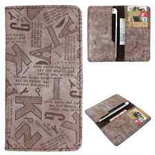 Available For All iPhone Models -Dooda PU Leather Wallet Case Cover Pouch ABC-BR