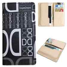 Available For All iPhone Models-Dooda PU Leather Wallet Case Cover Pouch DD-BL