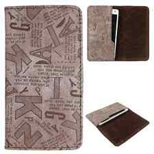 Available For All iPhone Models-Dooda PU Leather Wallet Case Cover Pouch ABC-BR