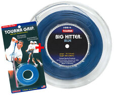 Unique AKTION Tourna Big Hitter BLUE - 220 Meter + 1 Tourna Grip 3er Packung
