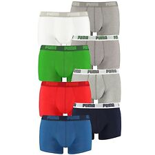 PUMA Mens Luxury Plain Soft Cotton Boxer Shorts - Pack of 2