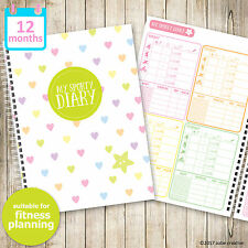 A5 My Sporty Diary - fitness planner, fitness diary, excercise planner