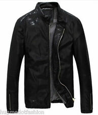 Biker Leather Jacket for Men in Black Coffee Blue Colours