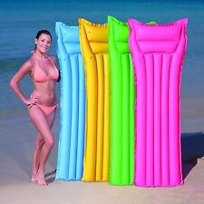 INFLATABLE MATTE LILO LOUNGER FLOAT BEACH SWIMMING POOL AIR MAT BED