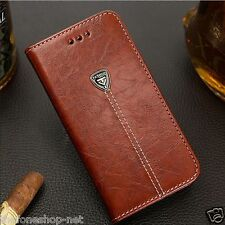 Premium Quality Leather Magnetic Wallet Flip Cover Case For Iphone 6, 6 Plus +