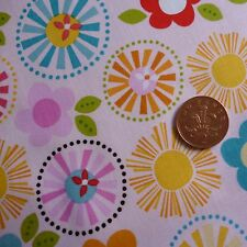 Riley Blake Fresh Market pink floral patchwork & quilting cotton fabric