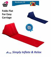 Inflatable Beach Festival Camping Lounger Back Support Pillow Cushion Chair