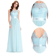 Long Chiffon VBack Evening Formal Party Ball Gown Prom Bridesmaid Dress Size4-18