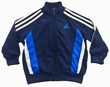 Adidas Junior Tracksuit YB TS TIB KN OH (X27305) Zip Up Navy Size 2-3Years Only