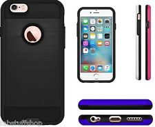 AMZER HYBRID DUAL LAYER METTO BACK CASE COVER FOR iPhone 6 iPhone 6s