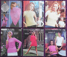 Various Crochet Patterns Women Tops Dress- Please Choose from the Drop-down Menu
