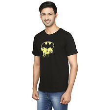 Trendamo Cotton Black Round Neck Superhero Batman Half Sleeves t-shirts for men