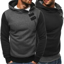 OZONEE 68003 Men's Hooded Pullover Sweatshirt Jumper Sweat Jacket Hoodie New