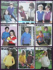 Patons Knitting Patterns Childs Jackets/Sweaters - Choose from Drop-down Menu