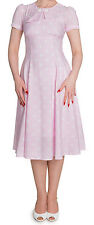 HELL BUNNY PINK WHITE POLKA DOT 1950S 1940S RETRO VINTAGE PROM PARTY DRESS 8-16