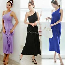 Women's New Fashion Hot ItS7 Sexy One Shoulder Slim Long Dress Cocktail Party