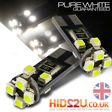 T10 501 W5W CAR SIDE LIGHT BULBS ERROR FREE CANBUS 8 SMD LED XENON HID WHITE