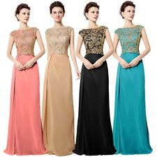 Long Maxi Ladies Chiffon Evening Dresses Coral Formal Cocktail Prom Party Gowns