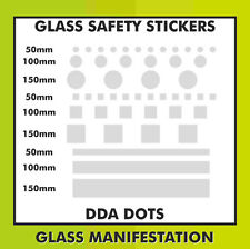 Frosted Etched Glass Safety Marking Warning Triangle Stickers 1 Metre Strip