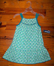 New! Girls OLD NAVY Aqua or Purple Cotton Flower Sundress Floral Casual Dress