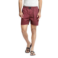 London Bee Cotton Printed Casual Sleepwear Maroon Color Boxer for Mens MLB0109