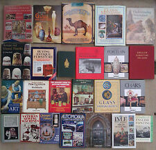 SELECTION OF REFERENCE BOOKS - FURNITURE, PORCELAIN, GLASS & OTHERS.